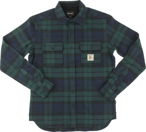 Diamond Caribou Flannel L/S Buttonup M-Navy