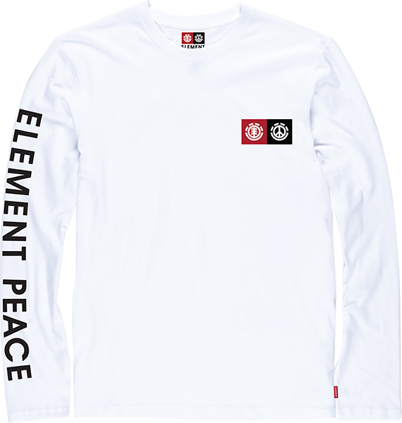 Ele Peace Block L/S S-Optic White