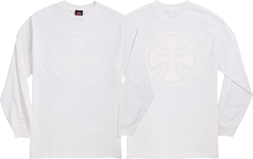Inde Bar Cross Fade Out L/S S-White