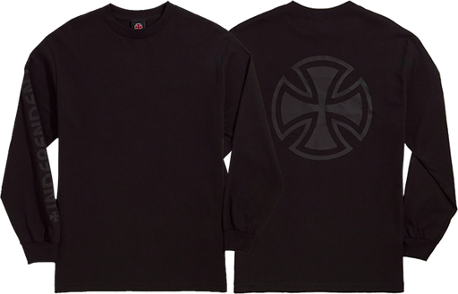 Inde Bar Cross Fade Out L/S M-Black