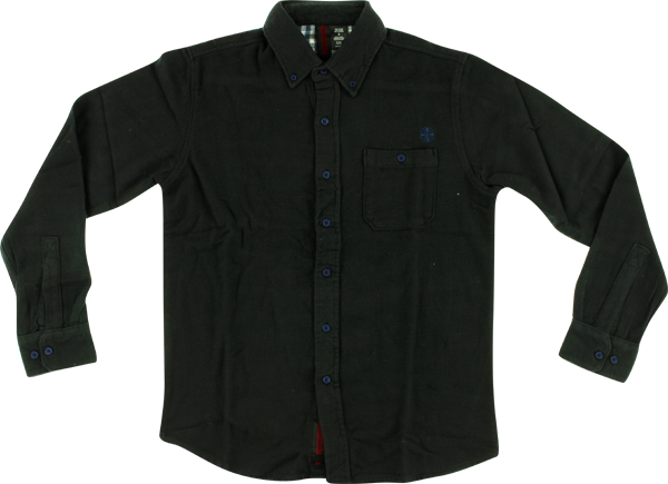 Inde Class Act L/S Button Up M-Black