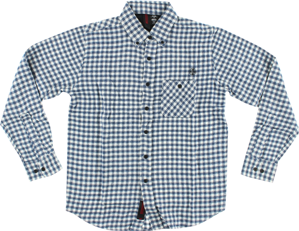 Inde Class Act L/S Button Up M-Wht/Navy
