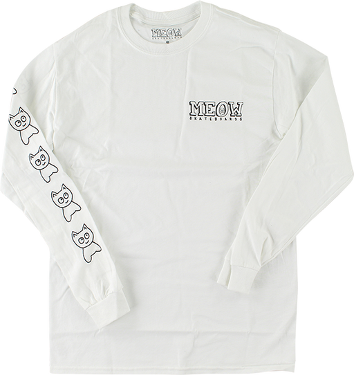 Meow Big Cat L/S L-White
