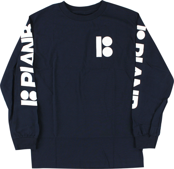 Plan B Repeat L/S M-Navy/Wht