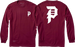 Primitive Dirty P L/S M-Burgundy
