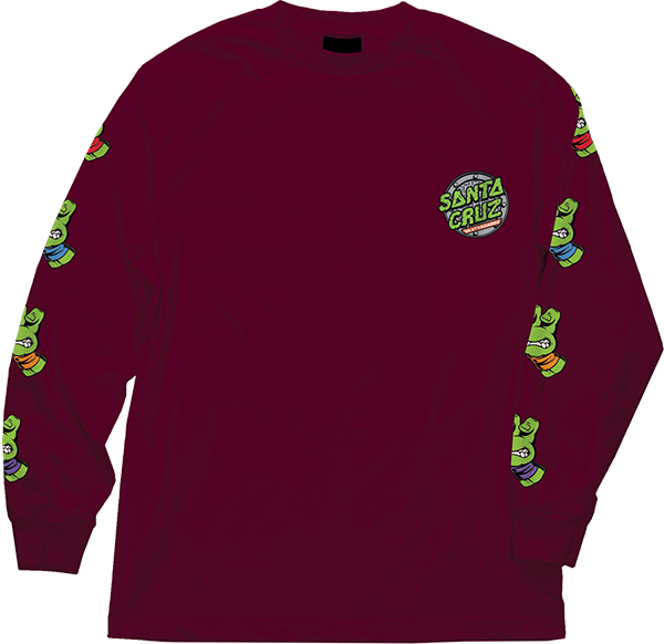 Sc Tmnt Sewer Dot L/S S-Burgundy