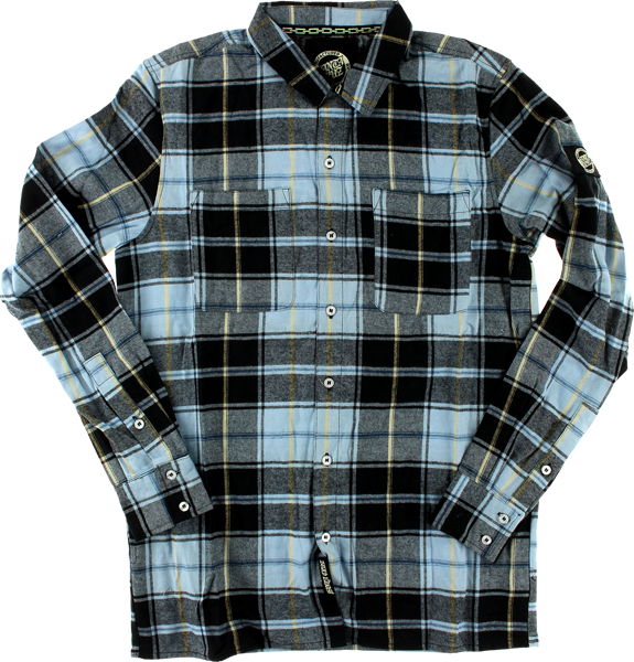 Sc Cliff Button Up L/S L-Blue Plaid