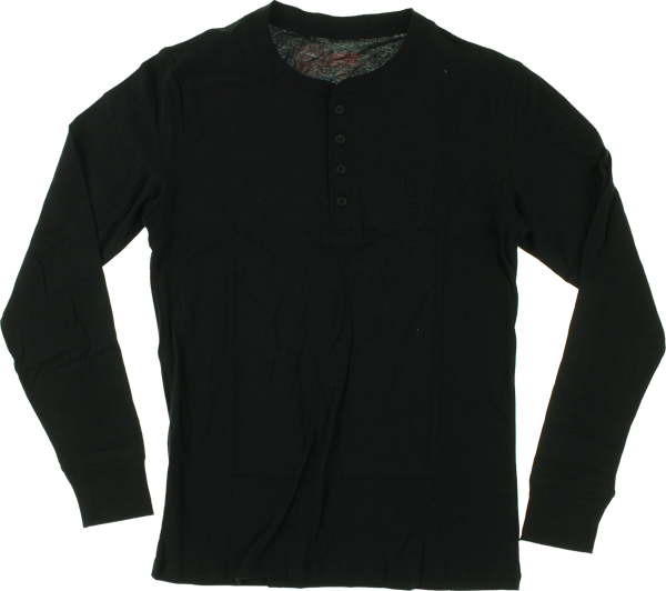Sf Stock Bighead Henley L/S Xl-Black