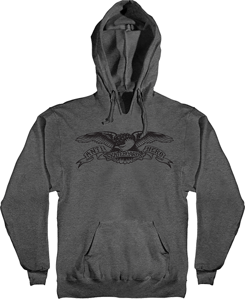 Ah Basic Eagle Hd/Swt S-Charcoal Heather/Blk
