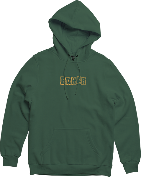 Baker Brand Logo Hd/Swt Xl-Green/Gold
