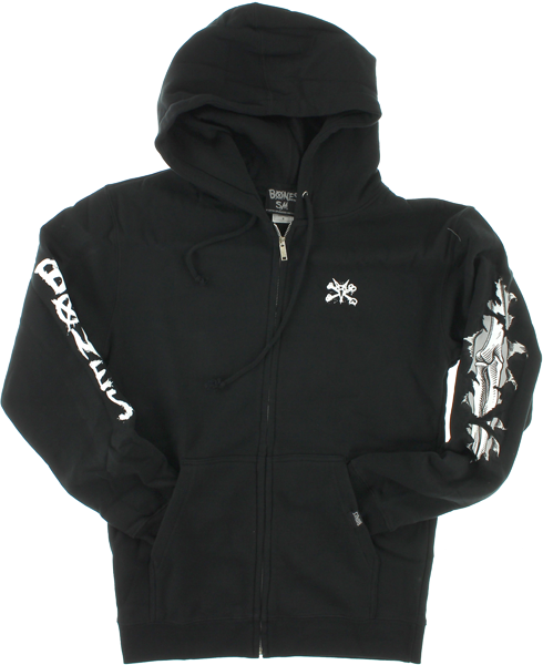Bones Shred Zip Hd/Swt Xl-Black