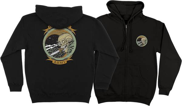 Creature Army Zip/Hd/Swt L-Black