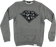Diamond Dmnd Skulls Crew/Swt S-Heather Grey