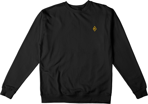 Krooked Diamond K Crew/Swt S-Blk/Gold