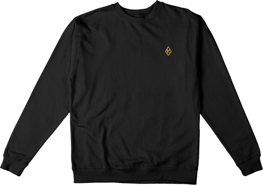 Krooked Diamond K Crew/Swt Xl-Blk/Gold