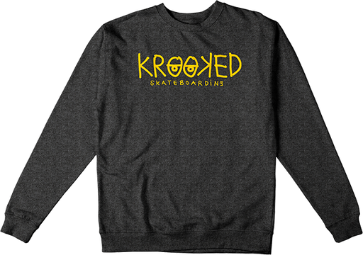Krk Krkd Eyes Crew/Swt S-Charcoal Heather