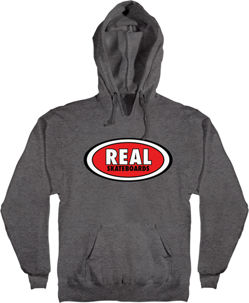 Real Oval Hd/Swt L-Gunmetal Heather