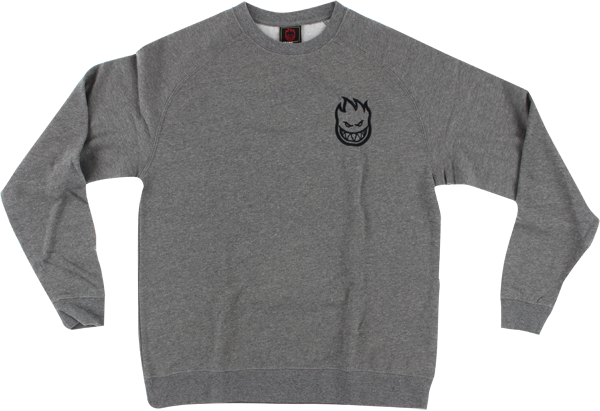 Sf Bighead Emblem Crew/Swt L-Gunmetal Heather