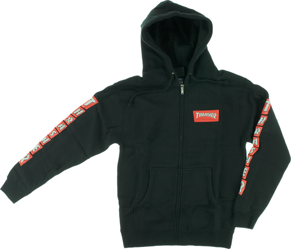 Thrasher Boxed Zip Hd/Swt M-Black