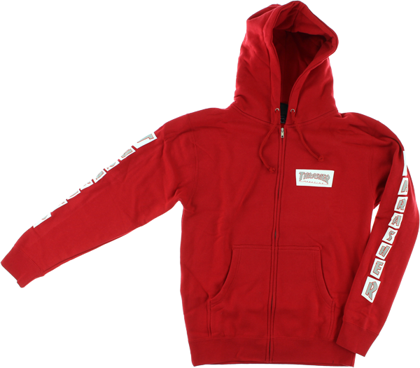 Thrasher Boxed Zip Hd/Swt L-Red