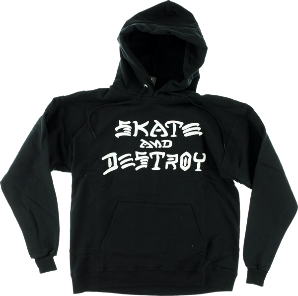Thrasher Sk8 & Destroy Hd/Swt Xl-Black
