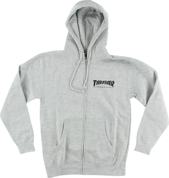 Thrasher Skate Mag Zip Hd/Swt S-Heather Grey