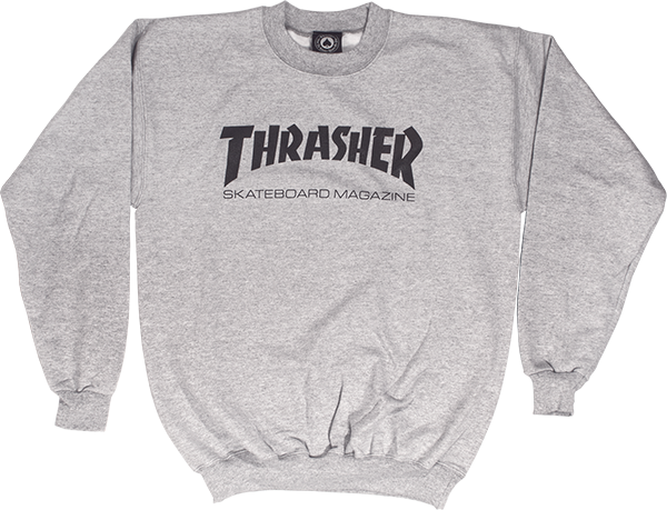 Thrasher Skate Mag Crew Swt L-Grey
