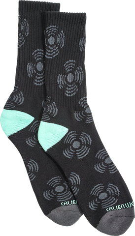 Aw Sonic Crew Socks-Black 1 Pair