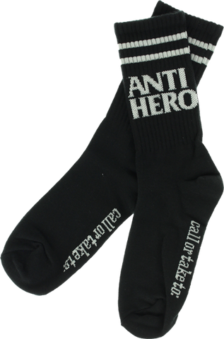 Ah Blackhero If Found Crew Socks Blk/Grey 1Pr