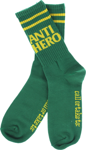 Ah Black Hero If Found Crew Socks Green 1 Pair