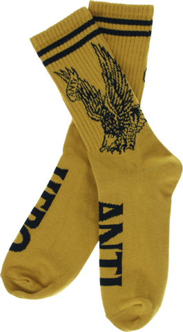 Ah Flying Eagle Crew Socks Mustard/Blk 1 Pair