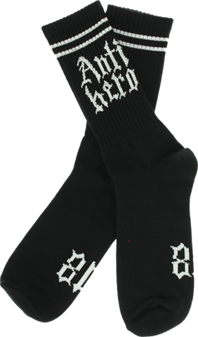 Ah Lindig Crew Socks Blk/Wht Single Pair