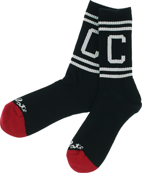 Choc Athletic C Crew Socks Blk/Wht 1Pr