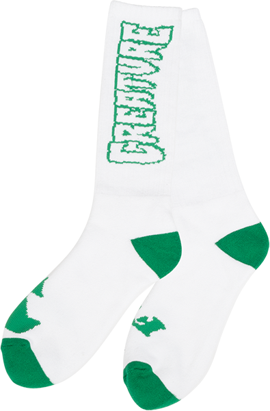 Creature Pointers Crew Socks White 1Pr