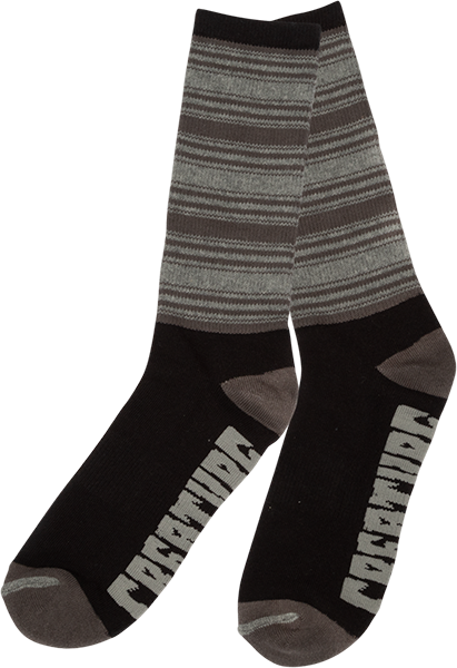 Creature Transition Crew Socks Black/Grey 1Pr
