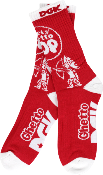 Dgk Pop Crew Socks Red/Wht 1Pair