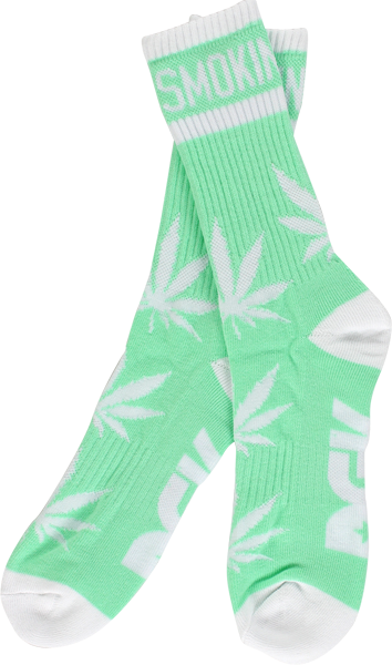 Dgk Stay Smokin Crew Socks Mint/Wht 1Pair