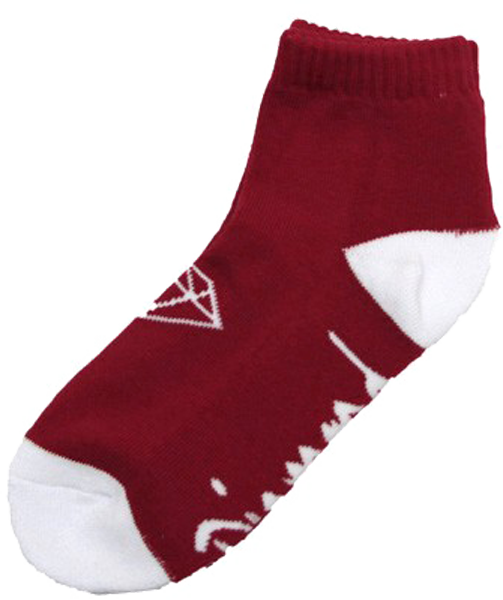 Diamond Og Low Cut Socks-Red/Wht 3Pr