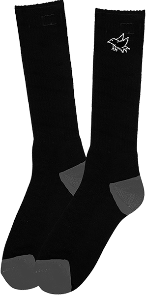 Found Bird Tall Socks Black 1Pr