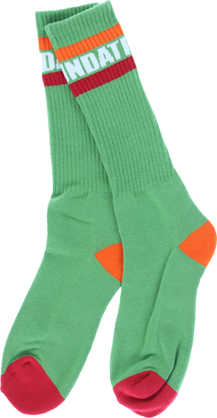 Found Tall Stripe Crew Socks Green 1Pr