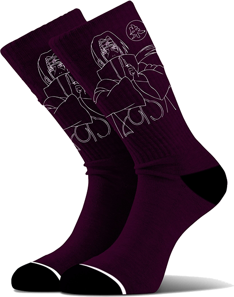 Primitive Itachi Crew Socks Burgundy