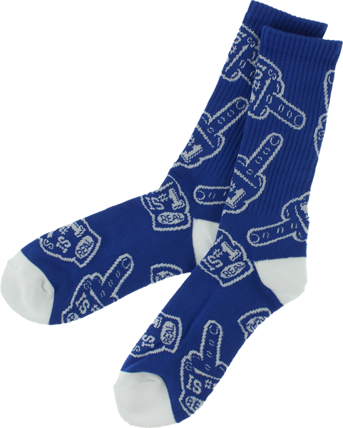 Real #1 Fan Toss Crew Socks Royal/Wht 1Pair