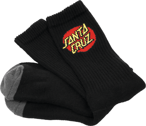 Sc Cruz Logo Socks Black 2 Pair Bundle