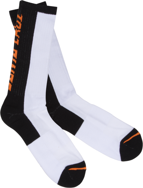 Sc Block Strip Socks Wht/Blk 1Pr