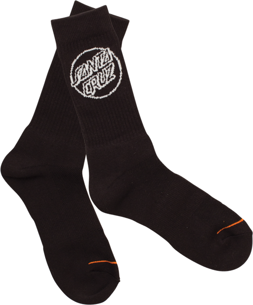 Sc Opus Dot Crew Socks Black 1Pr