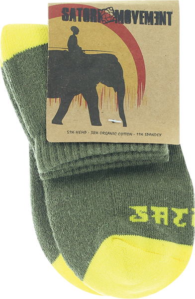 Satori Warrior Ankle Sock Lg-Olive