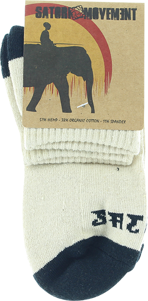 Satori Warrior Ankle Sock Lg-Natural