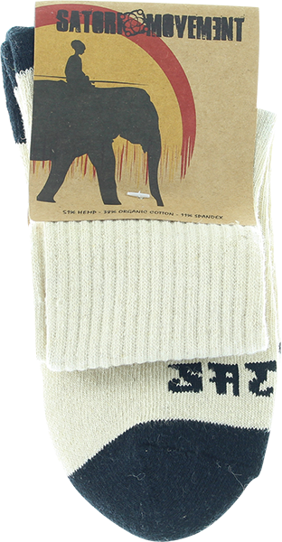 Satori Warrior Crew Sock Sm-Natural