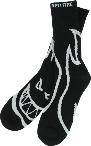 Sf Biggerhead Crew Socks Blk/Wht 1 Pair