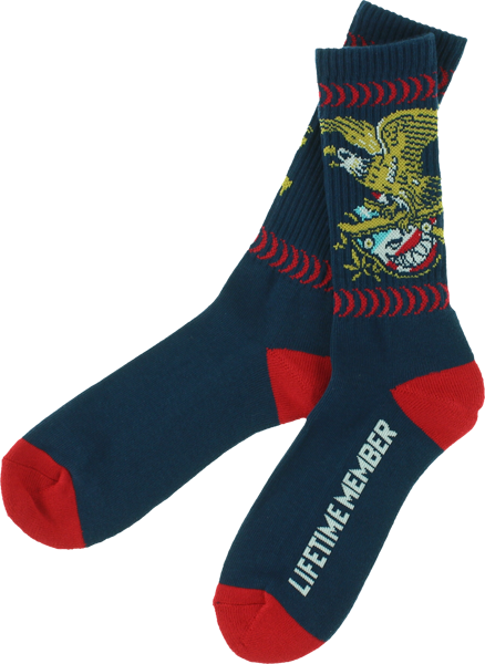Sf Members Crew Socks Navy 1 Pair